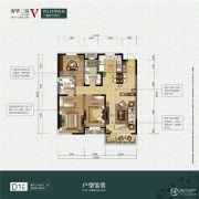 万科公园大道3室2厅2卫0平方米户型图