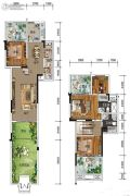 南方格林雅墅4室2厅3卫118平方米户型图