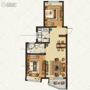金地棕榈岛2室2厅1卫100平方米户型图