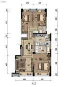 九龙仓时代小镇1号府邸3室2厅2卫113平方米户型图