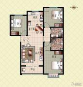 上起澜湾3室2厅2卫125平方米户型图