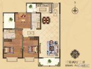 美伦・香颂3室2厅2卫121平方米户型图