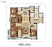 开元府5室3厅4卫290平方米户型图