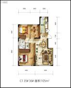 佳兆业君汇上品3室2厅2卫0平方米户型图