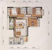 名爵世家3室2厅2卫114平方米户型图