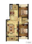 清山公爵城2室2厅1卫108平方米户型图