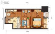 华远国际公寓2室1厅1卫65--70平方米户型图