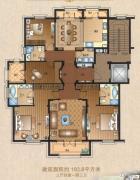 运河一品3室4厅3卫193平方米户型图