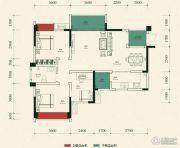金雁帝景豪庭3室2厅1卫99平方米户型图