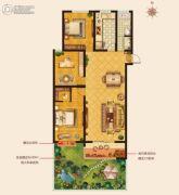 城建・锦绣城3室2厅1卫116--123平方米户型图