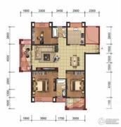 星洲国际3室2厅2卫134平方米户型图