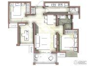 富力尚悦居3室2厅1卫89平方米户型图