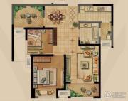 融侨观邸2室2厅1卫89平方米户型图