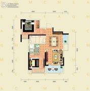 千禧城2室2厅1卫82平方米户型图