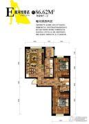 巴塞罗那2室2厅1卫86平方米户型图