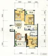 东方明都3室2厅1卫95平方米户型图