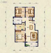 保艾尔云麓3室2厅1卫124平方米户型图