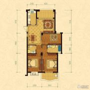 巴黎都市3室2厅2卫121平方米户型图