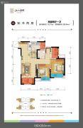 北大资源江山名门2室2厅1卫70平方米户型图