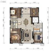 万科时代之光4室2厅2卫136平方米户型图