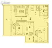 恒利沃德小镇2室1厅1卫80平方米户型图