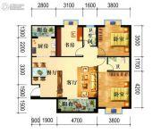 碧海豪庭3室2厅1卫122平方米户型图