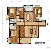 阳光城市・晶海园4室2厅4卫195平方米户型图