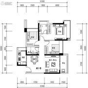 华发城建未来荟3室2厅2卫88平方米户型图