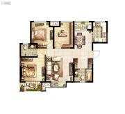 上和郡3室2厅2卫120平方米户型图