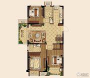 中海国际社区3室2厅1卫115平方米户型图