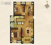 梅香雅舍3室2厅1卫99平方米户型图