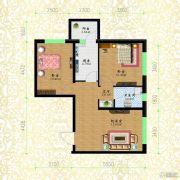黎明荣府2室1厅1卫49平方米户型图