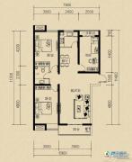 燕赵国际3室2厅1卫117平方米户型图