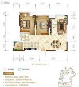 置地城2室2厅1卫66平方米户型图