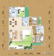 丽雅月光半岛3室2厅2卫135--137平方米户型图