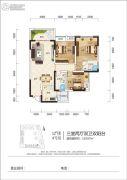 江岸国际3室2厅2卫110平方米户型图