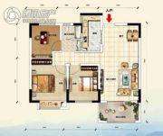 江畔大地3室2厅1卫89平方米户型图