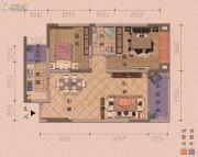 朋鹰・莱茵小镇2室2厅1卫88平方米户型图