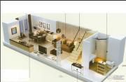 中房汇达广场2室1厅2卫65平方米户型图
