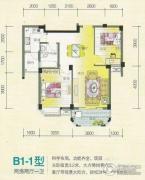 香江世纪名城2室2厅1卫0平方米户型图