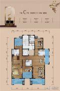 铜雀台4室2厅3卫167平方米户型图