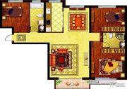 哈西万达广场3室2厅2卫129平方米户型图