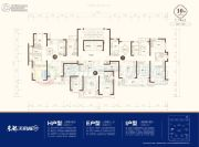 东部美的城3室3厅2卫108--164平方米户型图