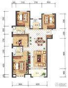 兰石豪布斯卡4室2厅2卫141平方米户型图