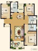 世嘉光织谷3室2厅2卫119平方米户型图