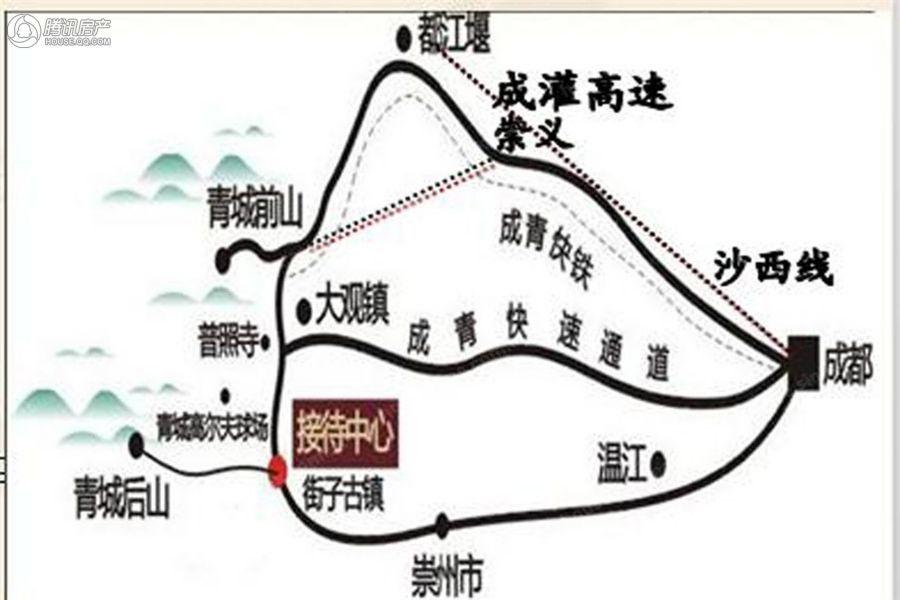 青城水道路交通图