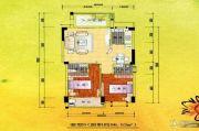 新嘉雅园2室2厅2卫96平方米户型图