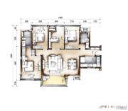 南宁万科城4室2厅2卫120平方米户型图