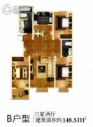 联盟雅居苑3室2厅1卫0平方米户型图