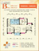 万科城4室2厅0卫110平方米户型图